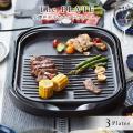 平面プレートは3層遠赤土鍋コーティング。たこやき・焼肉・平面プレートの3枚タイプ