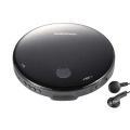 CDプレーヤー コンパクト ポータブルCDプレイヤー おしゃれ 乾電池式 薄型 高音質 ステレオイヤ...
