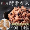 玄米 パック 酵素玄米 4日寝かせ おむすび型 90g*14個セット 冷凍 無農薬