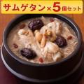 博淑屋 食べる本格薬膳スープ 参鶏湯 サムゲタン キット 5個セット 韓国 スープ 鍋 鶏 薬膳 レ...