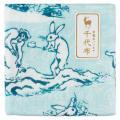中川政七商店 千代布 鳥獣水遊び ガーゼハンカチ Cotton handkerchief