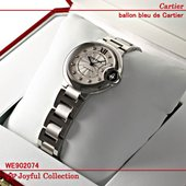 カルティエ バロン ブルー ドゥ カルティエ スティール ダイヤモンド WE902074 新品。 オ...