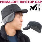 【ゆうパケット対応】 MILLET ミレーから 軽くて暖かい、耳当て付きの帽子 PRIMALOFT ...