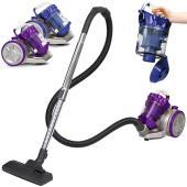 スタイリッシュなデザインでインテリア性抜群な掃除機です。  フィルターのお手入れがラクで、透明なダス...