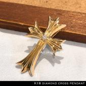 K18刻印入りの安心の18金ジュエリーです。 GP、GFではありません!   天然ダイヤを贅沢にあし...