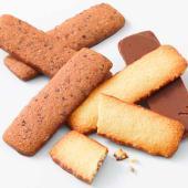ロイズ バトンクッキー ココナッツ&ヘーゼルカカオ 2種セット 50枚入り [ココナッツ]と...
