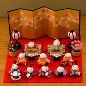 雛人形 ひな人形 ちりめん お雛様 ひな祭りお雛さま 初節句 季節のディスプレイにコンパクト・ミニサ...