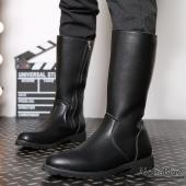 長靴 メンズ ペコスブーツ 裏起毛 ワークブーツ ロングブーツ レインシューズ ブーツ 革靴 皮靴 ...