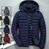 ダウンジャケット メンズ 暖かい 中綿ジャケット 軽量 キルティング フード取り外し可 ビジネス 防...