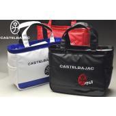 カステルバジャック2018秋冬のキャディバッグと同じデザインのラウンドバッグ。 光沢の美しい合皮素材...