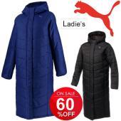 プーマ(PUMA)から、シンプルなデザインのレディース中綿ロングコートです。  汎用性の高いウィメン...