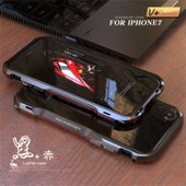 新作 2色利刃   表面9H強化ガラス付き!!  iphone7/plus/X新製品〜人体工学設計で...