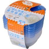 ごはん冷凍保存容器 一膳分 5個 冷凍ごはんをムラなく加熱できるごはん冷凍保存容器です。 凸型構造に...