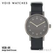 a3789bfcec VOID ヴォイド V03B Brushed Round Analogue Watch ウォッチ グレー ナイロンバンド VID020027 腕時計