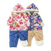 お花柄を大胆にあしらったジャンプスーツはプレゼントにもピッタリ☆セパレート風はジャンプスーツでも人気...