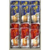 伝統の笹かまとは一味違う、わさびチーズとポークウィンナーのふたつの味の極上洋風味笹かまぼこです。丁寧...