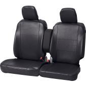 ◆グランドレザー ◆軽自動車フロントベンチシート用シートカバー ◆ブラック[BK]   工具を使わず...