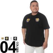 カジュアルスタイル定番のクルーネック半袖Tシャツです。バックのプリントと胸の刺繍がお洒落のポイント。...