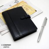 バッファロー(水牛革)を使用した「きちんとした印象」のシステム手帳ポケットサイズ システム手帳職人が...