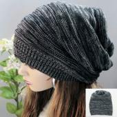 伸縮性に優れたお洒落なシンプルニット帽!  締め付け感が無くゆったり被れる帽子です。 薄手の生地なの...