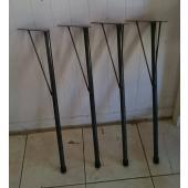 ハンドメイドにて製作している鉄の素材を生かしたテーブル脚です。 4本セット。 DIYでのテーブル、机...