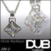 DUB Collection 206_2 ネックレス ホワイト キュービック ジルコニア メンズ レ...