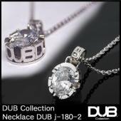 DUB Collection j180-2 Side Emblem Stone ネックレス ホワイト...