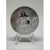 ■材質:金属メッキ 直径40mm コインケース入り ■バーチャルの通貨であるビットコインをイメージし...