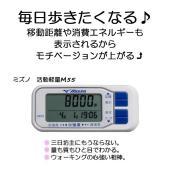 活動量計M55 ミズノ 歩数計 歩行距離 消費カロリー 健康  1日の歩数と活動分数が1画面で表示さ...