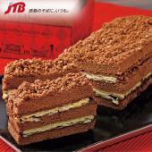 関西のお土産 ココアケーキとサクサクのパイ、口どけのよいチョコクリームを重ねクッキークランチを散りば...