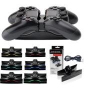 送料無料 新品●PS4 Playstation4 LEDデュアルUSBコントローラ 充電スタンド P...
