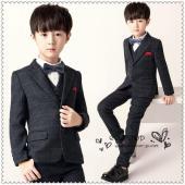 男の子スーツ4点セット子供服入学式チェック柄 子供 スーツ フォーマル タキシード 男の子 キッズ ...