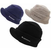 アクリルミックス配色のつば付きニット帽です。 スクエアなスタイルで深くかぶりやすく防寒に最適!! 折...