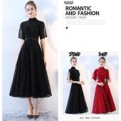 [ 商品名 ] ハイネックドレス ブラック パーティードレス 大きいサイズ サイズ指定可 半袖ドレス...