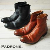 "PADRONE(パドローネ) プレーントゥ ブーツ(バックジップ)""EDWARD""PU7885-11..."