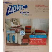 ■商品名:ZIPLOC ジップロック スペース バッグ衣類圧縮袋 12枚入り商品説明■内容量 ●Mサ...