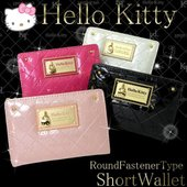 HELLO KITTY ハローキティ 財布 ラウンドファスナー 財布 HK26-1 キティ さいふ ...