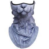 【商品情報 】  通気性・伸縮性に優れた薄手素材の動物柄の  フェイスガードです。 薄手ながら防寒性...