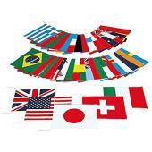 ・40ヶ国セット(旗のみ)日本製旗サイズ=縦35cm×横43cm自重=890g/組材質=木綿40ヶ国...