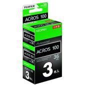 黒白ネガフイルム ネオパン 100 ACROS 35mm 36枚 3本 形式:Unknown for...
