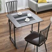 一台二役の便利テーブル。2人用のコンパクトタイプ。天板をスライド&折りたたみでマイデスクとしての使用...