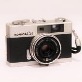 【中古品】[135フイルムカメラ] ■ KONICA C35 シルバー[150333]  小西六の3...