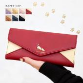 商品名:猫モチーフ長財布『Charles』チャールズ  『伸びするネコの大人可愛い財布。』 上品にき...