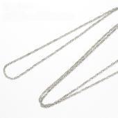 地金:Pt850(プラチナ850) チェーン:全長 約60cm スクリューチェーン/チェーン幅:約1...