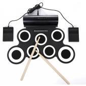 叩くだけで気分がスッキリする電子ドラム。七種の音が楽しめます。デュアルスピーカー内蔵で、強力な低音を...