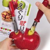 リンゴのくりぬき専用です。刺して回すだけで簡単に芯取りができます。ステンレス鋼の刃先で楽に差し込みが...