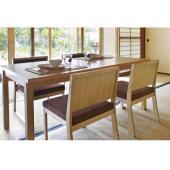 業務用家具/お座敷用木製椅子 天然木の竹素材が表情豊かな低座椅子。日本的な素材は空間によく馴染み溶け...