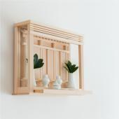 国産桧を贅沢に使って製作の純日本製神棚「神楽」。 洋風のリビングにも大きな違和感もなくお祀りできる三...