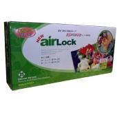 【AirLock(エアラック)真空バルブ付きジッパー保存袋(小2枚・中3枚) 追加セット】 別売りの...