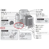 ◆シャープ加湿空気清浄機KC-G50-H用トレーです。 ◆新品製品の本体から取り外したものです。未使...